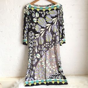 Donna Morgan stretchy abstract floral dress